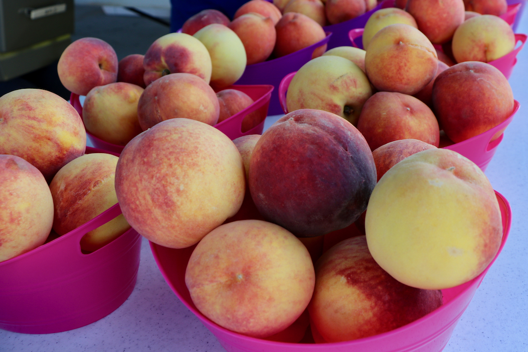 A big turnout for this year's Peach Festival, which benefits charitable work in the island community